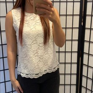 Karen Scott White, Laced Dress Top